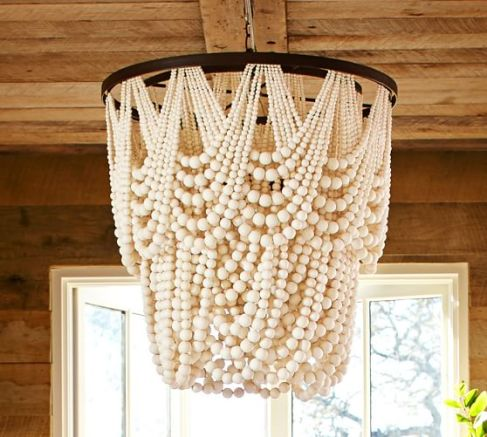 Pottery Barn Bead Chandelier